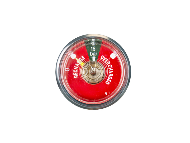 RED 37MM BOURDON TUBE PRESSURE GAUGE