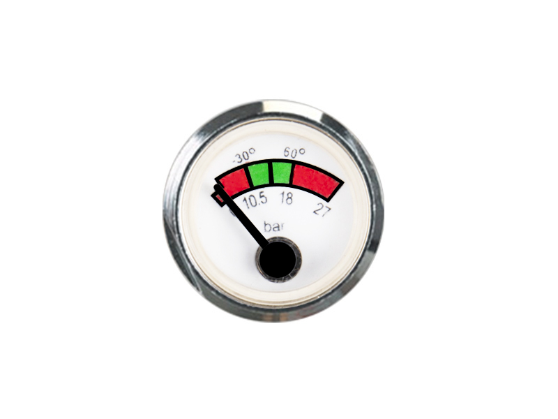 HIGH QUALITY SPRING TUBE PRESSURE GAUGE FOR FIRE EXTINGUISHER