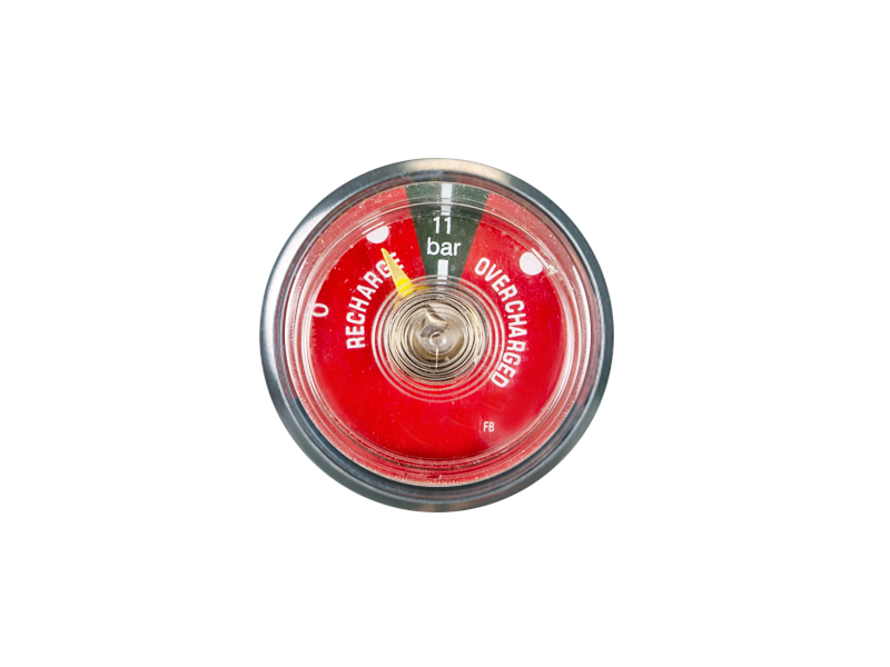 37MM BOURDON TUBE DRY POWDER FIRE EXTINGUISHER PRESSURE GAUGE