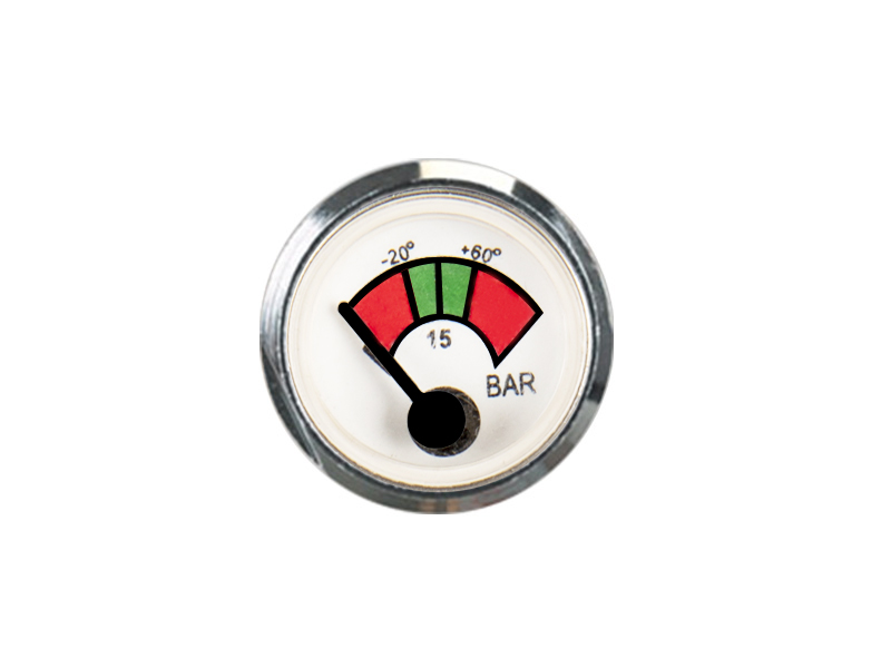 ECONOMICAL AND PRACTICAL SPRING PRESSURE GAUGE FIRE EXTINGUISHER